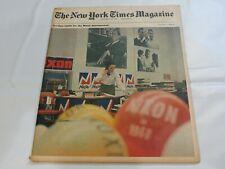 New York Times Magazine January 21 1968 Nixon phenomenon 9C
