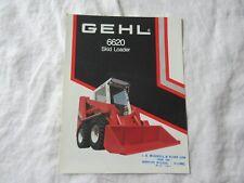 Gehl 6620 Skid Steer Loader Brochure