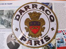 DARRACQ PARIS AUTOMOBILE Vanderbilt IN FOLIE WERBESCHILD BLECHSCHILD SERVICE