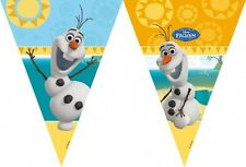 FESTONE BANDIERINE FESTA A TEMA OLAF FROZEN  ADDOBBI PARTY DECORAZIONI