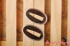 High Grade Sliver Plating Brass Seppa Spacer For Japanese Sword katana 2 Pieces
