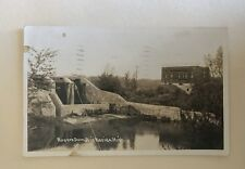 Real Photo Postcard Rogers Dam Big Rapids Michigan 1945