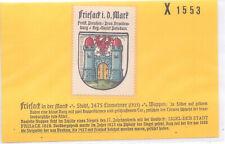 Reklamemarke Wappen von Friesack in der Mark Brandenburg  um 1925 (B525)