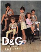 PUBLICITE ADVERTISING 105  2006  DOLCE & GABBANA JUNIOR haute couturte enfants