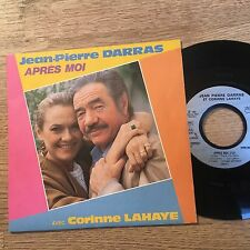 SP 45 tours ACTEURS Jean-Pierre Darras Corinne Lahaye Après moi / Comédien 1985