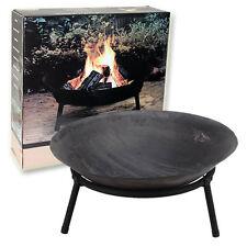 Cast Iron Garden Fire Pit Heater Bow Log Charcoal Burner 50cm Diameter
