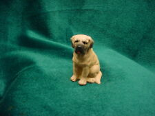 Mastiff puppy Dog Resin Figurine Hand Painted Miniature Small Mini Collectible