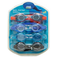[4 PACK] Zoggs 3 Junior Kids & 1 Adult Swimming Goggles | UV Protection, Child