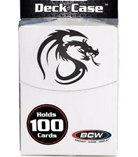 2 MTG White 100 Card Deck Box with Divider plus 200 White Deck Guard Sleeve