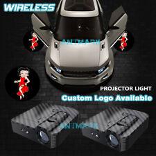 Car Door Projector Pretty Girl BETTY BOOP Courtesy Ghost Shadow Lights Wireless