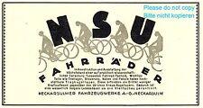 Bicycle NSU german ad 1926 bike xc