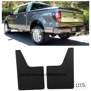 For 10-14 Ford F150 SVT Raptor Rear Conversion Mud Flaps Splash Guard Pair F-150