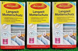 2,13€/Stück) 3x2 Aeroxon Langzeit Mottenschutz Hänger Kleidermottenfalle Vers.0€