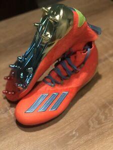 Adidas Adizero Primeknit Football Cleats Coral/Cyan/Green EH2518 Men's Sz 12