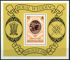 Turks & Caicos Is. 1981 SG#MS656 Royal Wedding MNH M/S #R419