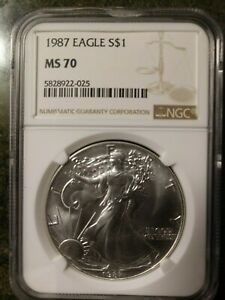Top Rated Free Shipping /& Returns 1987 Silver American Eagle NGC GEM BU