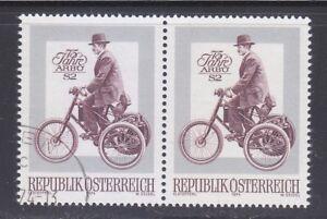 Austria 1974 MNH & CTO NH Mi 1451 Sc 989 De Dion Bouton motor tricycle