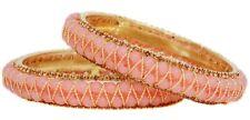 Indian Bangles Jewelry Fashion Beautiful L.Pink Pearl Jewelry Bracelet Bangle 2p
