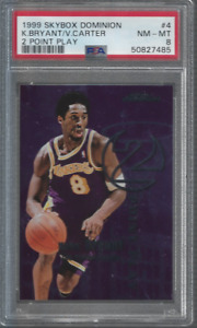 1999 Skybox Dominion 2 Point Play #4 Kobe Bryant Vince Carter PSA 8