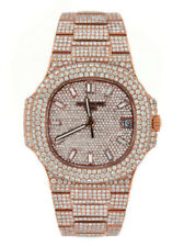 patek philippe Fully DIAMOND Iced Out 40MM - 18K Rose Gold 18