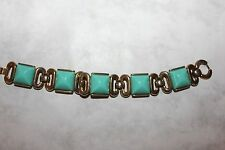 TRIFARI signed GREEN LUCITE BRACELET CROWN OVER THE T-STUNNING!!!!!!!!!!!!!!!!!!