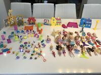 Massive Bundle Of Polly Pocket & Non Polly Pocket Dolls Figures & Accessories
