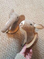 Wayfair Animal Hooks Nursery Elephant Donkey Felt  x2