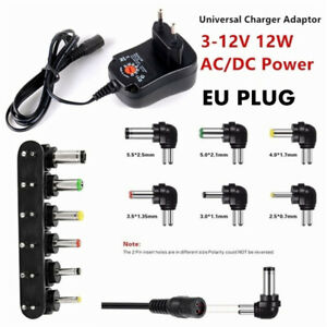Universal AC/DC Netzteil Adapter Stecker Ladegerät Adapter 3V 4.5V 6V 7.5V 9V 12