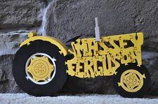 Yellow Farm Tractor Massey Ferguson New Wood Toy Puzzle Amish Made Usa