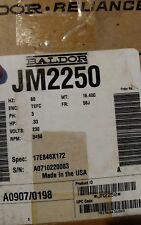 New BALDOR JM2250 Commercial Electric Motor .33HP 230V 3 Phase
