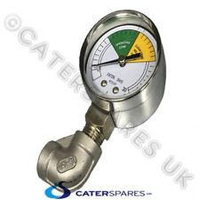 HENNY PENNY CHICKEN FRYER PRESSURE GAUGE CLOCK AND BOTTOM ELBOW FITTING
