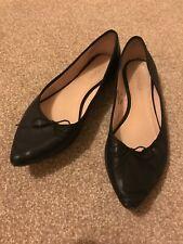 Topshop size 3 black ballet shoes £5 ONO