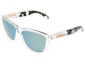 Oakley Frogskins Eric Koston Sunglasses 24-436 Clear Camo/Emerald Iridium
