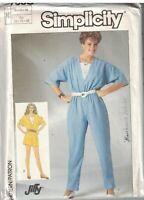 9111 Vintage Simplicity Sewing Pattern Misses Jumpsuit in Two Lengths Dress oop