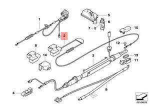 Genuine BMW E60 Sedan Battery Cable Positive OEM 61126929324