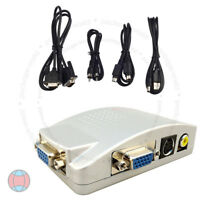 New Laptop PC CCTV VGA to TV AV RCA S-Video Converter Adapter Box Composite HD