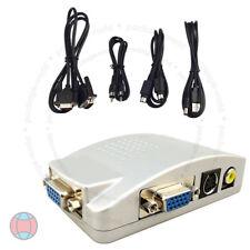 Nueva PC portátil VGA CCTV para TV AV RCA S-Video caja conversor Adaptador HD compuesto