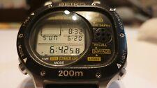 SBBK001 Seiko Scuba Master Divers Watch Computer M726-5A00 Vintage Digital 200M