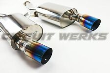 BMW 335i 07 08 09 10 Turbo Catback Exhaust with TRUE TITANIUM VIBRANT BURNT TIPS
