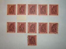 1961 WEST GERMANY NUREMBERG MESSENGER STAMPS x 11 MNH/MH/VFU (sg1279) CV £6