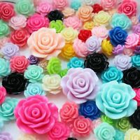 50pcs Large Rose 42mm Resin Flower with Hole for Chunky Necklace Beads Wholesale