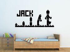 Personalised Childrens Lego Evolution Wall Art Sticker Boys/Girl Bedroom Decor