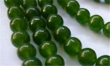 """Green 8mm natural emerald gemstone round loose beads 15"""" AAA"""