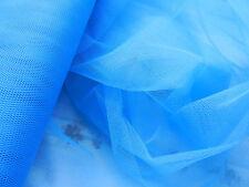 3,0m Tüll Tütü Hell-Blau Tuell Stoff Faschingstüll Gitternetz Schwerentflammbar