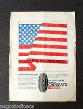 [GCG] P391 - Advertising Pubblicità -1968- CINTURATO PIRELLI , NEGLI STATI UNITI