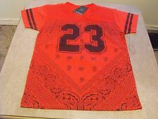 Large  Victorious red bandana 23 urban, chicano, Low Rider t-shirt.
