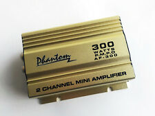 Gold PHANTOM 2-Channel 300 Watts Mini Amplifier for Car/Motocycle Audio System