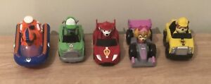 5 Official Paw Patrol Vehicles With Figures In Rubble Marshall Rocky Skye Zuma
