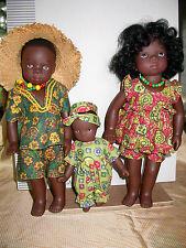 3 Gotz Designer Dolls by Swiss Artist Sylvia Natterer, Kimba, Golka and Ginka