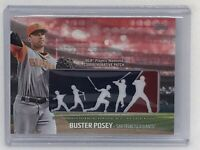2018 Topps Buster Posey Players Weekend Logo Patch Red PWP-BP #'d 10/25 Giants